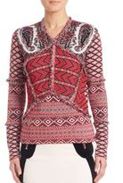 Altuzarra Printed V-Neck Sweater