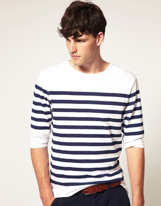 Asos Design ASOS Breton Stripe 3/4 Sleeve Top