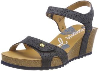 Panama Jack Women's Julia Roses Ankle Strap Sandals