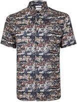Topman Atlas Print Liberty Fabric Short Sleeve Smart Shirt