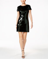 GUESS Short-Sleeve Sequined Cocktail Dress