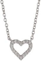 Bony Levy 18K White Gold Petite Open Heart Diamond Pendant - 0.05 ctw