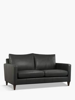 John Lewis & Partners Bailey Medium 2 Seater Leather Sofa, Light Leg, Milan Grey