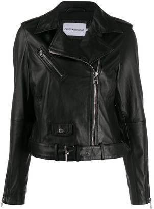 Calvin Klein Jeans Zipped Biker Jacket