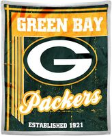 Green Bay Packers Double-Sided Sherpa Throw by Northwest