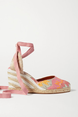Missoni Crochet-knit Canvas Wedge Espadrilles