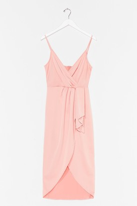 Nasty Gal Womens Love at First Sight Wrap Dress - Apricot