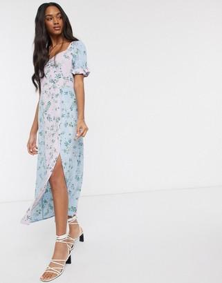 Vero Moda maxi tea dress in mixed floral print