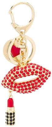 Love Moschino Lips Logo Embellished Keyring