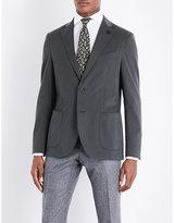 Lardini Tailored-fit Stretch-cotton Jacket