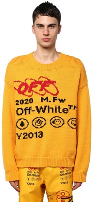 Off-White Wool Blend Knit Sweater