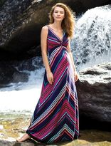A Pea in the Pod Twist Front Maternity Maxi Dress