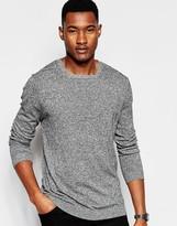 Asos Square Neck Sweater in Black and White Twist Cotton