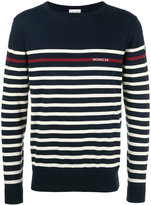 Moncler striped long sleeve jumper - men - Cotton - M