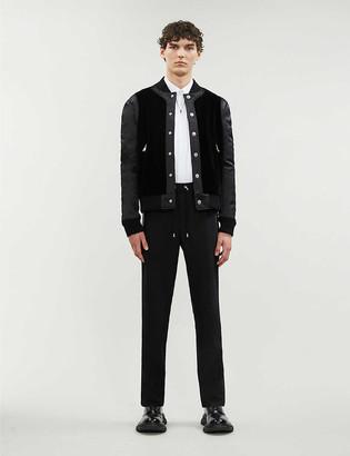 Balmain Padded velvet and satin jacket