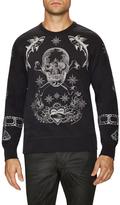 Alexander McQueen Embroidered Crewneck Sweatshirt