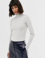 Weekday turtleneck top in off white