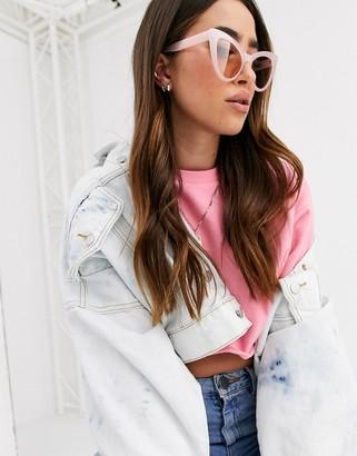 Cat Eye Asos Design ASOS DESIGN oversized sunglasses in pink