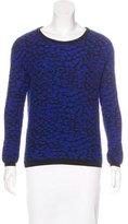 Rebecca Minkoff Merino Wool-Blend Patterned Sweater