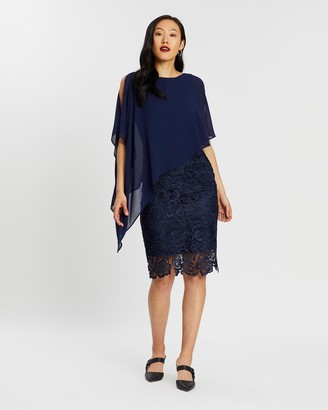 Montique Alisa Lace and Chiffon Dress