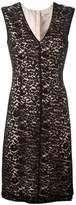 Lanvin V-neck fitted lace dress