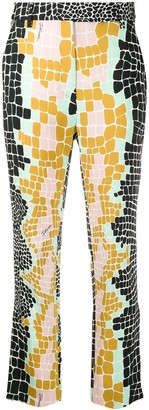 Just Cavalli colour-block tailored trousers