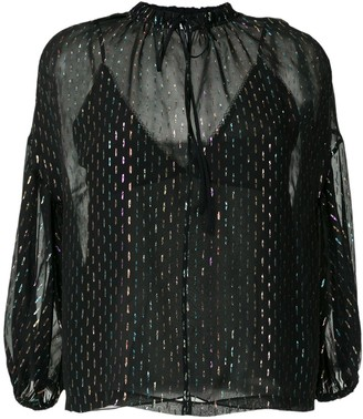 Nk Glitter Sheer Blouse