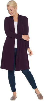 Susan Graver Every Day by Regular Liquid Knit Duster Cardigan