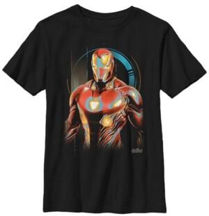 Fifth Sun Marvel Big Boy's Infinity War Iron Man Digital Profile Pose Short Sleeve T-Shirt