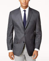 Michael Kors Men's Big and Tall Classic-Fit Gray Check Sport Coat
