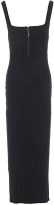 Ksubi Ribbed Cotton-blend Midi Dress