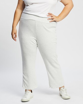 Cotton On Curve - Women's Grey Sweatpants - Super Soft Rib Lounge Pants - Size 16/18 at The Iconic
