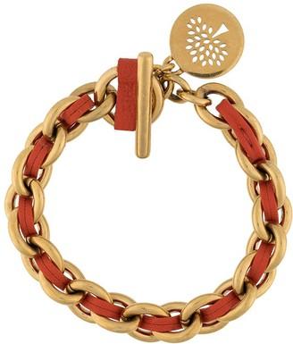 Mulberry Medium Medallion Leather Chain Bracelet