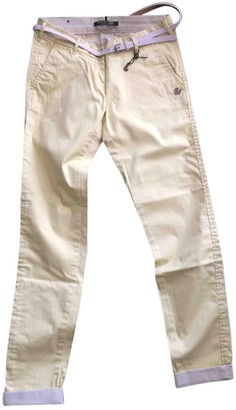 Maison Scotch Yellow Cotton Trousers for Women