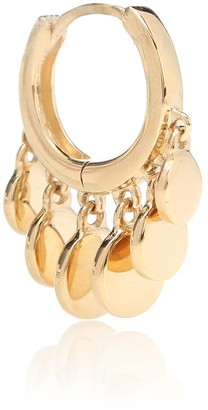 Jacquie Aiche 14kt gold Mini Disco Shaker single hoop earring