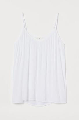 H&M Crinkled Tank Top - White
