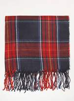Dorothy Perkins Navy and Red Tartan Checked Print Scarf
