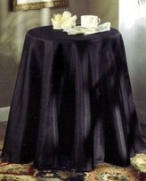"""Bess Concord 70"""" Round Tablecloth - Black"""