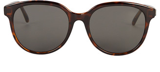 Saint Laurent Havana Round Sunglasses
