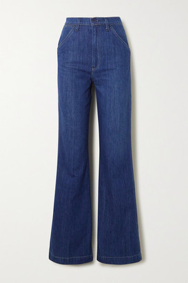 Reformation High-rise Wide-leg Jeans - Indigo