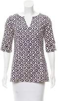 Tibi Printed V-Neck Tunic