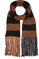Lanvin MEN'S STRIPED MERINO WOOL LONG SCARF