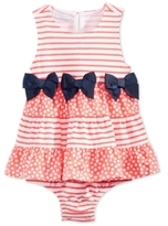 First Impressions Striped Tiered Skirted Sunsuit, Baby Girls (0-24 months), Created for Macy's