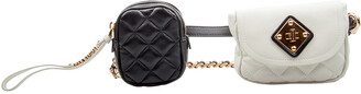 Moschino White/Black Leather Waist Belt Bag