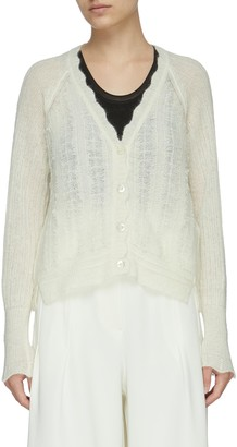 3.1 Phillip Lim Scallop Neck Wool Cardigan