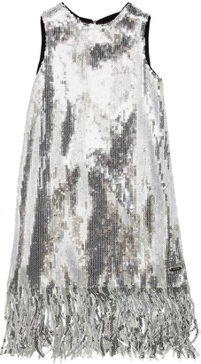 MSGM Sequined Fringe Party Dress