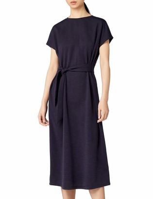 Meraki Amazon Brand Women's Relaxed Fit Tie Front Midi Dress