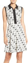 Betsey Johnson Collared Fit & Flare Dress