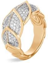 John Hardy 18K Yellow Gold Legends Naga Pavé Diamond Small Ring