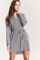 Forever 21 Striped Popover Shirt Dress